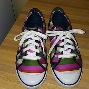 COACH Barrett Striped Sneakers
